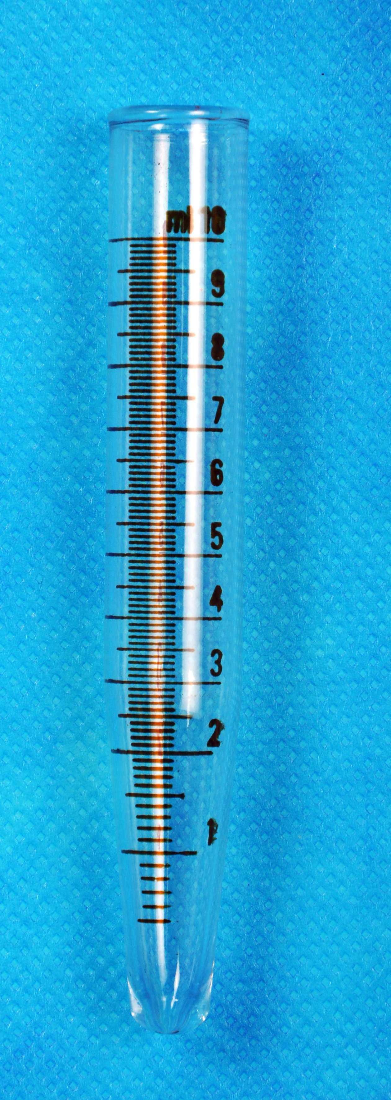 PROVETTE PER CENTRIFUGA,FONDO CONICO, ML 10 DIV.1/10.CF/100 PEZZI