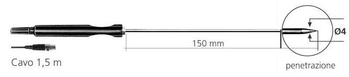 SONDA DI TEMPERATURA PT100 MOD. PT56P