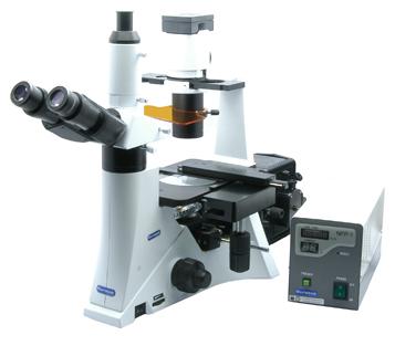 MICROSCOPIO BIOLOLOGICO ROVESCIATO TRINOCULARE INV-100T FL