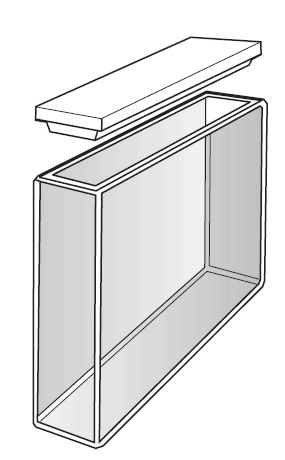 CUVETTE IN QUARZO OPTECH TIPO S/Q/50. P.O. MM 50. CF/2 PZ