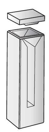 CUVETTE IN VETRO OTTICO SEMI-MICRO SMC/G/10. P.O.MM 10.CF/2P