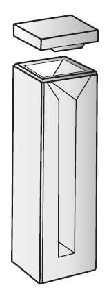 CUVETTE IN QUARZO SEMI-MICRO SM/Q/10. P.O.MM 10. CF/2 PZ