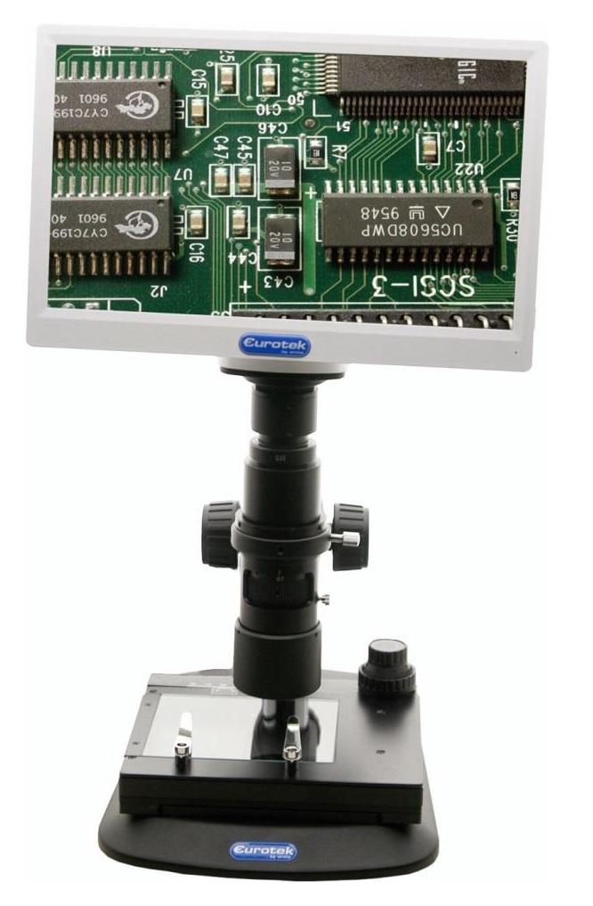 MICROSCOPIO PER ISPEZIONE 0.7X-4.5X CON MONITOR 11.6